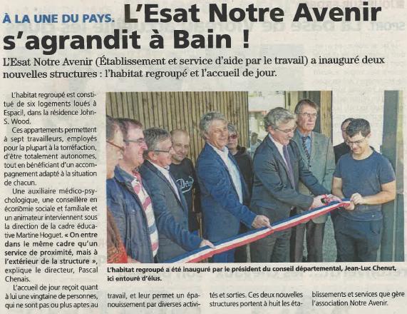 Inauguration Habitat regroupé et SAJ