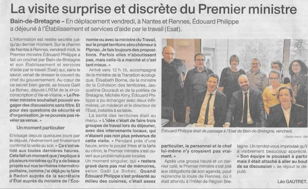 Article Ouest France 10-02-2019