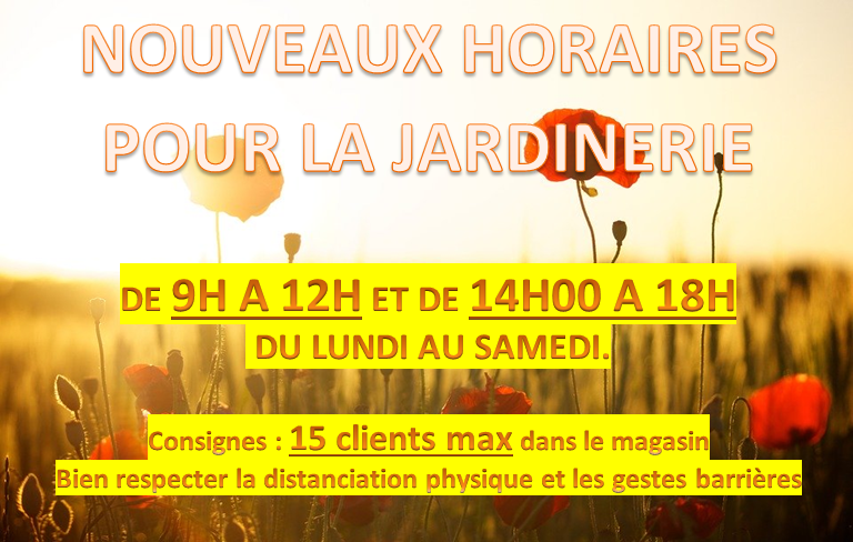Nouveaux horaires